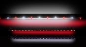 49'' WHITE AND RED TAILGATE LIGHT BAR