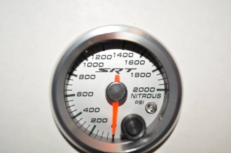SRT NITROUS PRESSURE GAUGE W/ WARNING